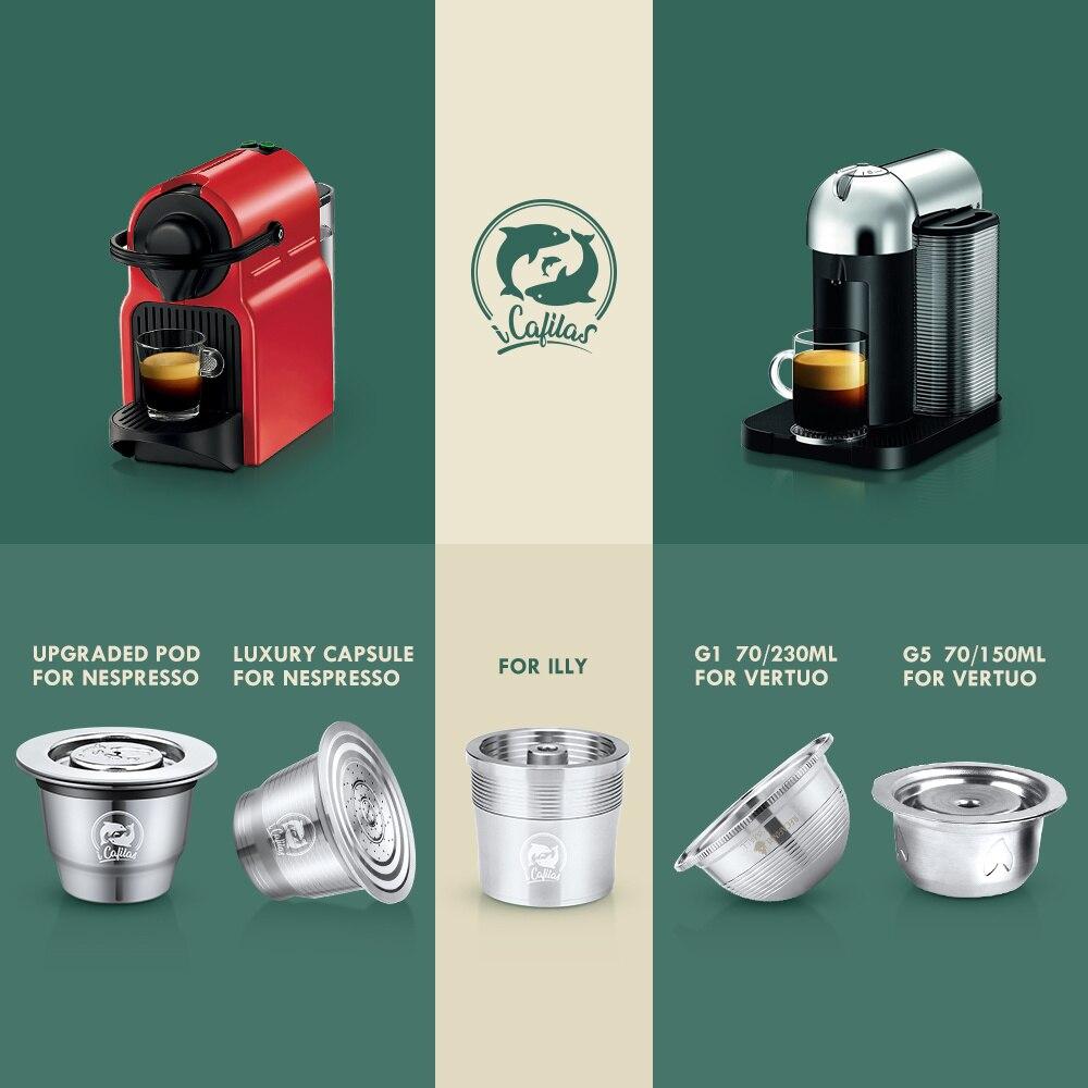SHZQ iCafilas إعادة الملء القهوة كبسولة ل نسبرسو و دولتشي غوستو و Vertuoline و Illy انخفاض الشحن Vip Link