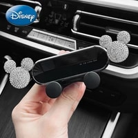 disney mickey mouse cartoon car navigation mobile phone holder car creative air outlet diamond decoration buckle gravity support