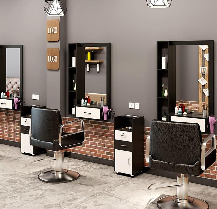 Hair salon mirror hair counter top wall mounted barber