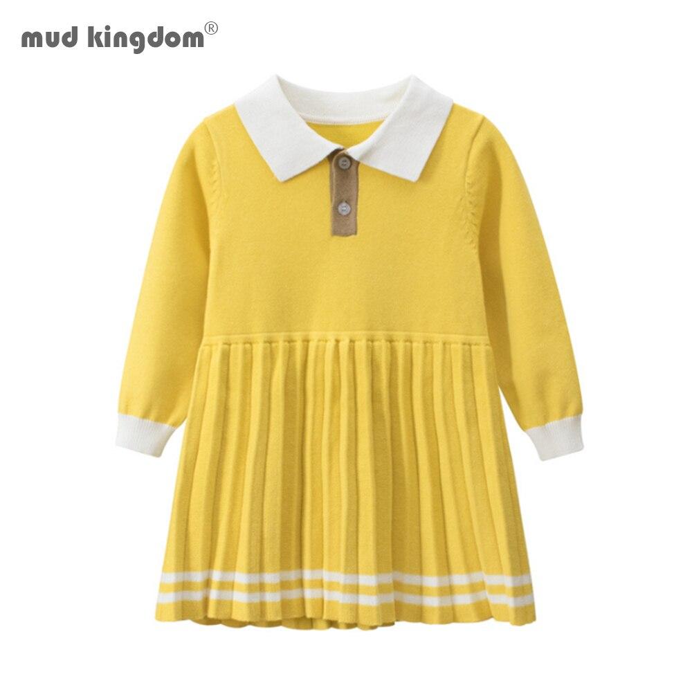 Vestidos de Otoño de manga larga para niñas de Mudkingdom