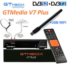 GTmedia V7 Plus dvb-t2 combiné dvb-s2 récepteur Satellite H.265 PowerVu Biss clé Ccam Newam Youtube USB Wifi 1080P full HD