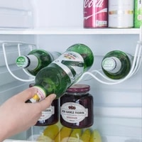 1pcs household refrigerator organizer rack inside shelf can beer wine bottle holder rack organizer kitchen fridge storage shelf
