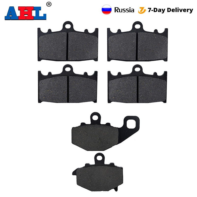 motorcycle parts front and rear brake pads discs kit for for cbr 600 f4 f4i motorcycle accessories Motorcycle Parts Front & Rear Brake Pads Kit For KAWASAKI ZZR400 ZX400 N 1993-1999 ZX 6R 9R 600 400 ZX600F  ZX9R Brake Disc Pad
