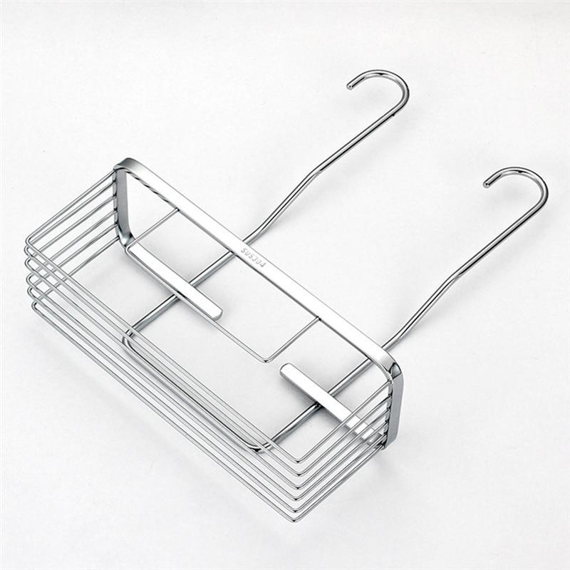 الفولاذ المقاوم للصدأ تخزين الرف رف دش رف رفوف معلقة مستلزمات الحمام عرض حامل للحمام المرحاض المطبخ (الفضة)