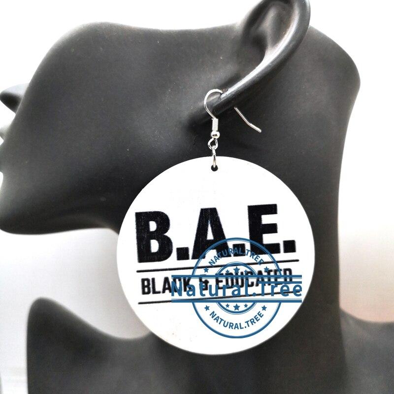 B.A.E wooden earrings