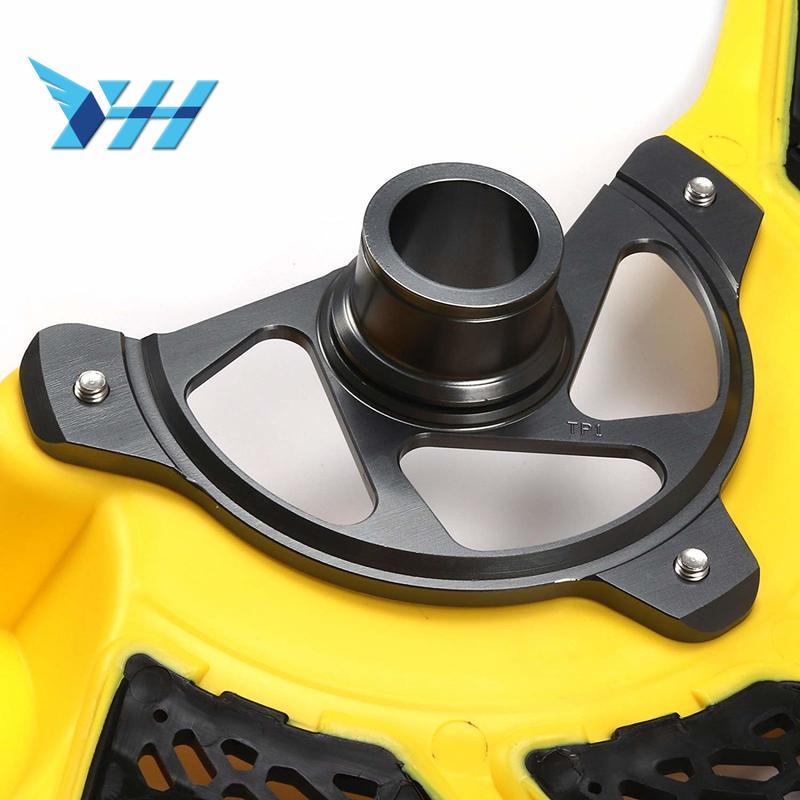 Motos Freio Dianteiro Disco Rotor Guard Capa amarela Para KTM EXC125 EXC150 EXC200 EXC250 EXC300 EXC400 EXC500 450-530 16 17
