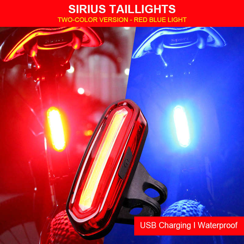 Luz de bicicleta 120Lm USB recargable para montar, luz trasera resistente al agua, advertencia de seguridad, luz trasera para ciclismo, lámpara de linterna MTB
