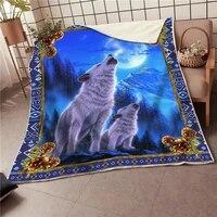 wolf fleece blanket 3d all over printed blanket wearable blanket adults for kids warm sherpa blanket drop shipping 02
