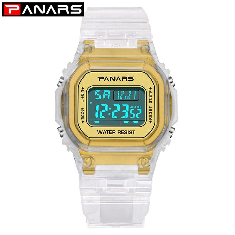 PANARS 2021 Women's Trend Watches Luminous Sport Watch Multi-function Men Waterproof Wristwatch Fitness Digital Alarm Clock 8131