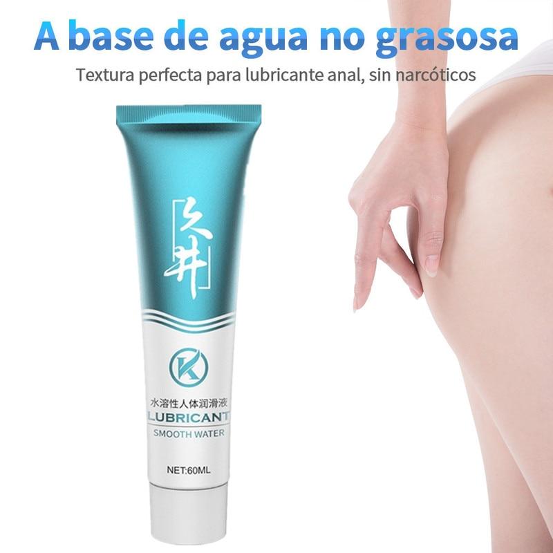 Lubricante sexual transparente para adultos... aceite sexual a base de agua Gel...