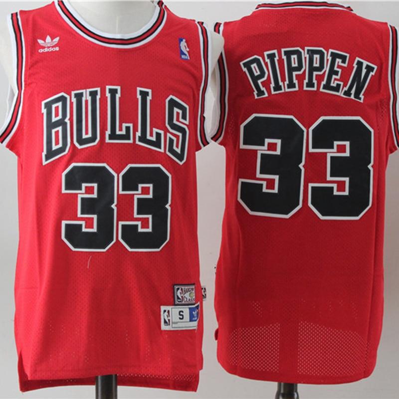 NBA herren Chicago Bulls #33 Scottie Pippen Basketball Jerseys Retro Begrenzte Swingman Jersey Netz Gestickte Männer Sport Jersey