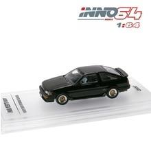 INNO64 1: 64 Toyota Corolla Levin AE86 modèle de voiture noire moulée sous pression