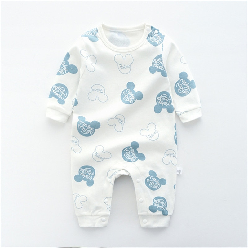 2021 Baby Boys Girls Romper Cotton Long Sleeve Animals Print Jumpsuit Infant Clothing Newborn Baby Clothes cute newborn baby clothing long sleeve cotton solid baby rompers peter pan collar girls boys clothes jumpsuit infant costumes