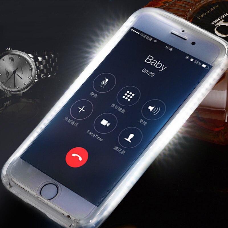 Funda de teléfono con luz de Selfie perfecta para iPhone 7 Plus...