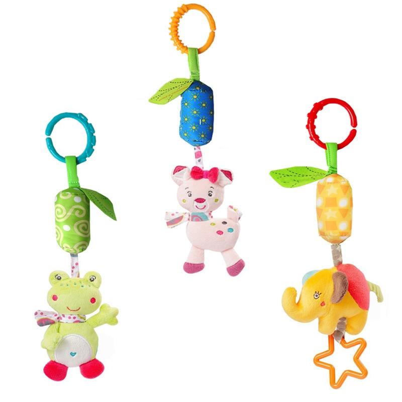 Nuevos juguetes colgantes para bebés, sonajeros, muñecas de felpa, accesorios para portabebés, carillón para recién nacidos, desarrollo sensorial