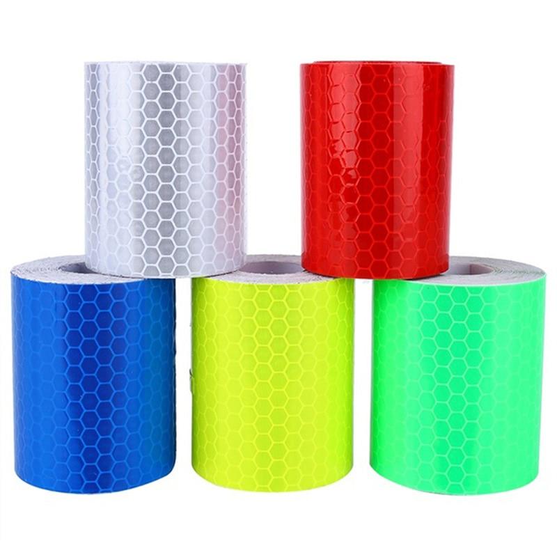Waterproof Warning Tape Strip Stickers Warning Light Reflector Protective Sticker Reflective Film Car Safety Mark 100cm X 5cm