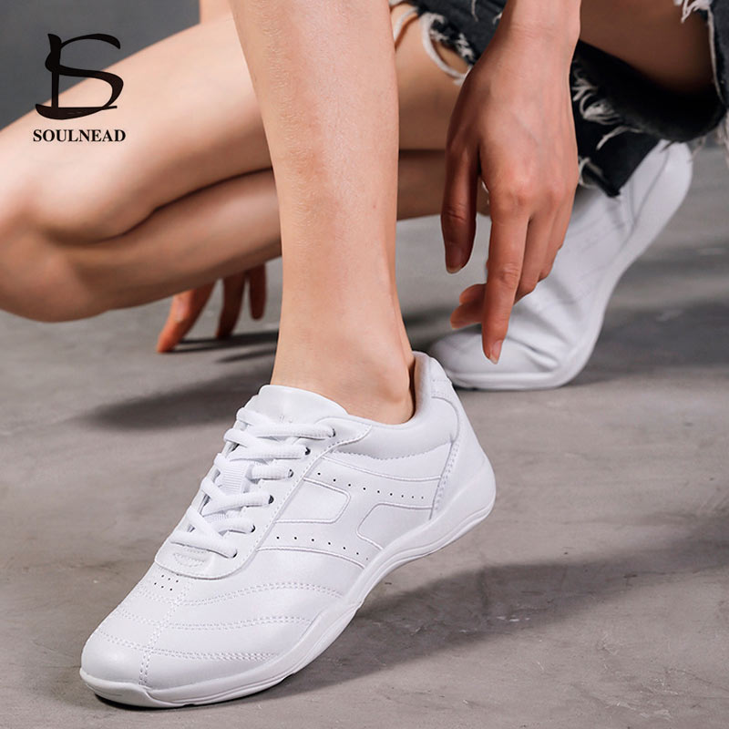 Aerobics Dance Shoes Women Sneakers White Girls Competitive Training Fitness Sports Shoes Soft Sole