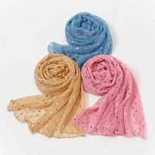 Blingbling Slide Filamen Women Lightweight Scarves Muslim Turban Hijabs Cap Long Head Wrap Shawl Gli