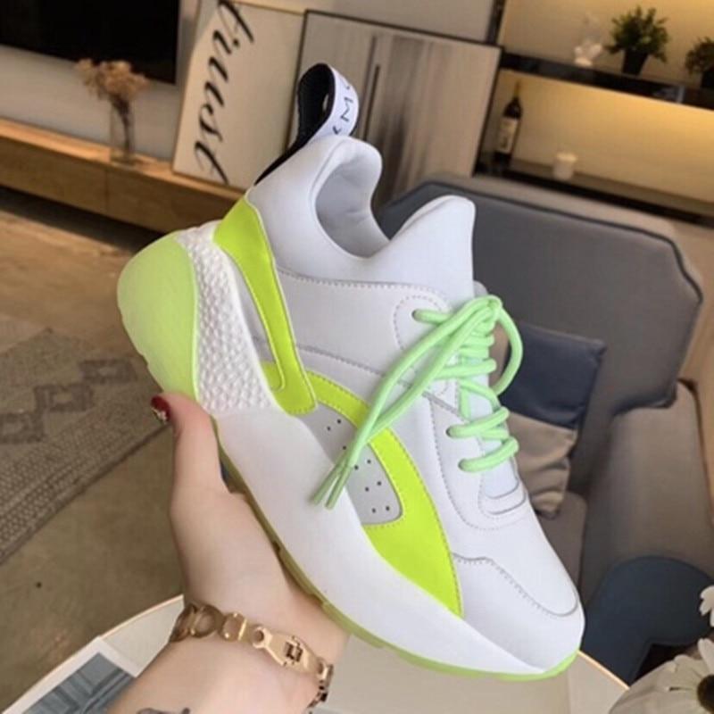 أحذية رياضية نسائية لربيع وصيف 2020 ، أحذية رياضية جلدية عصرية للنساء ، أحذية ركض مريحة ومسامية في الهواء الطلق