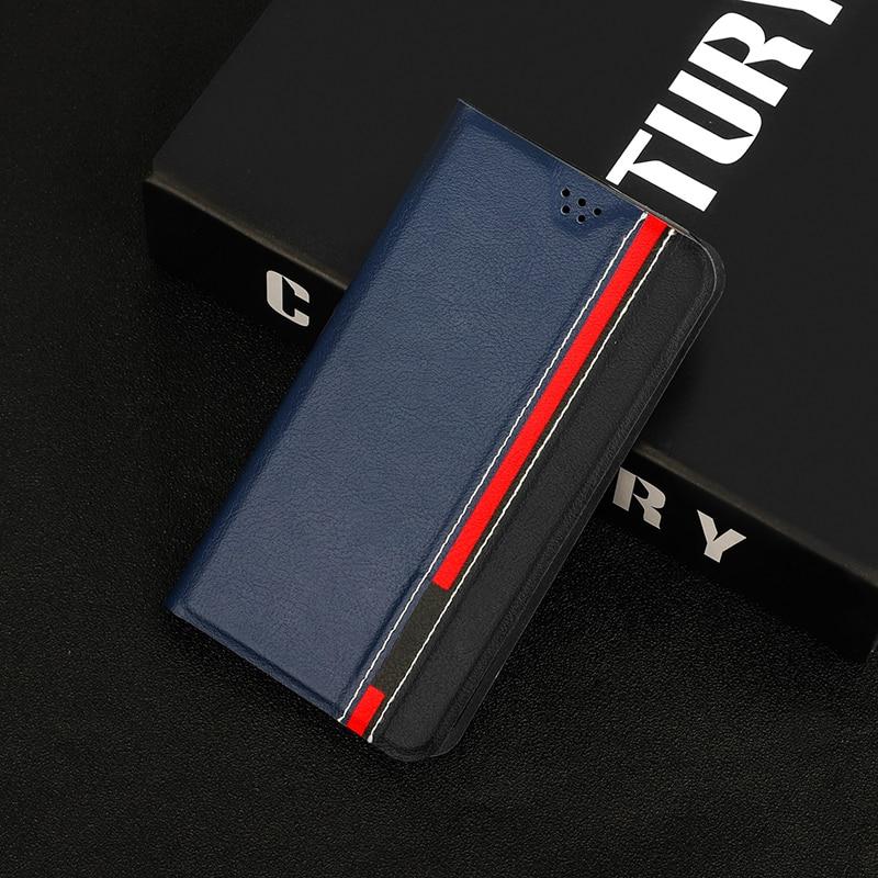 Soporte de Libro de lujo de cuero PU para Lenovo K6/Vibe K6 Power K33a48 K6 Note cubierta trasera del teléfono con la tarjeta ranuras cartera soporte Fundas