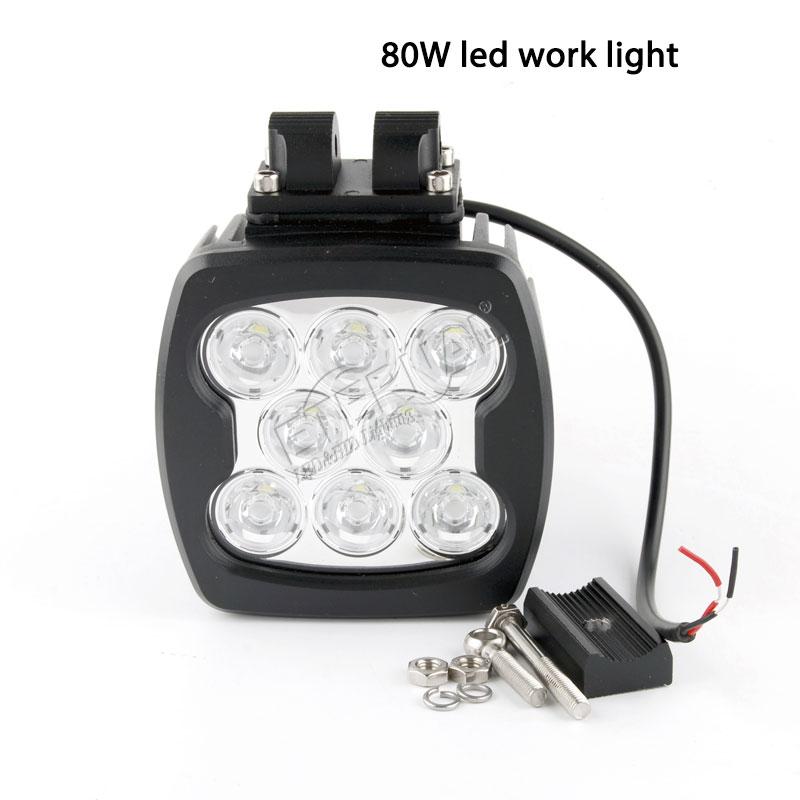 10 قطعة 80 واط led ضوء العمل 12 فولت الأضواء Led المصابيح الأمامية قبالة الطريق اكسسوارات 4x4 لشاحنة سيارة نيفا مقطورة Uaz فان fj كروزر