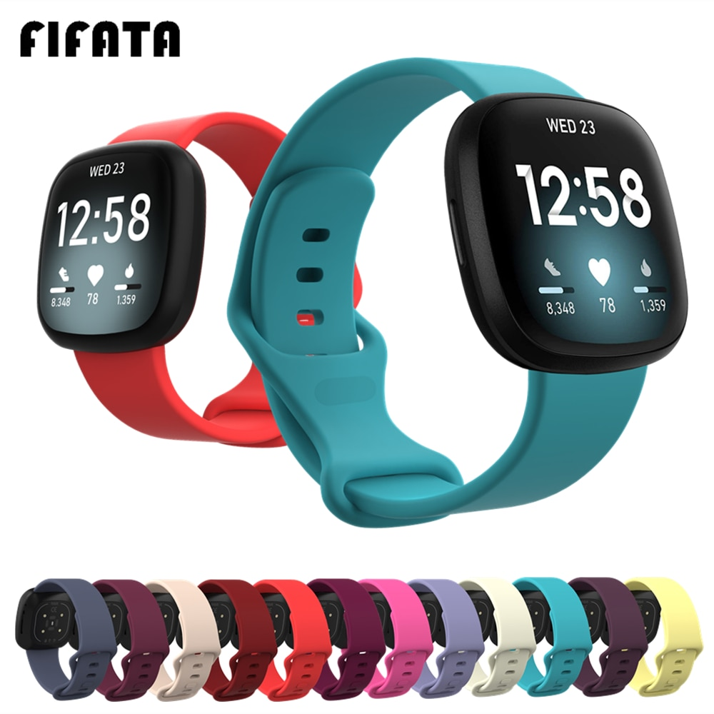 FIFATA Colorful Bracelet Wrist Strap For Fitbit Versa 3 Smart Watch Band For Fitbit Sense Wristband Sport Soft Silicone Straps
