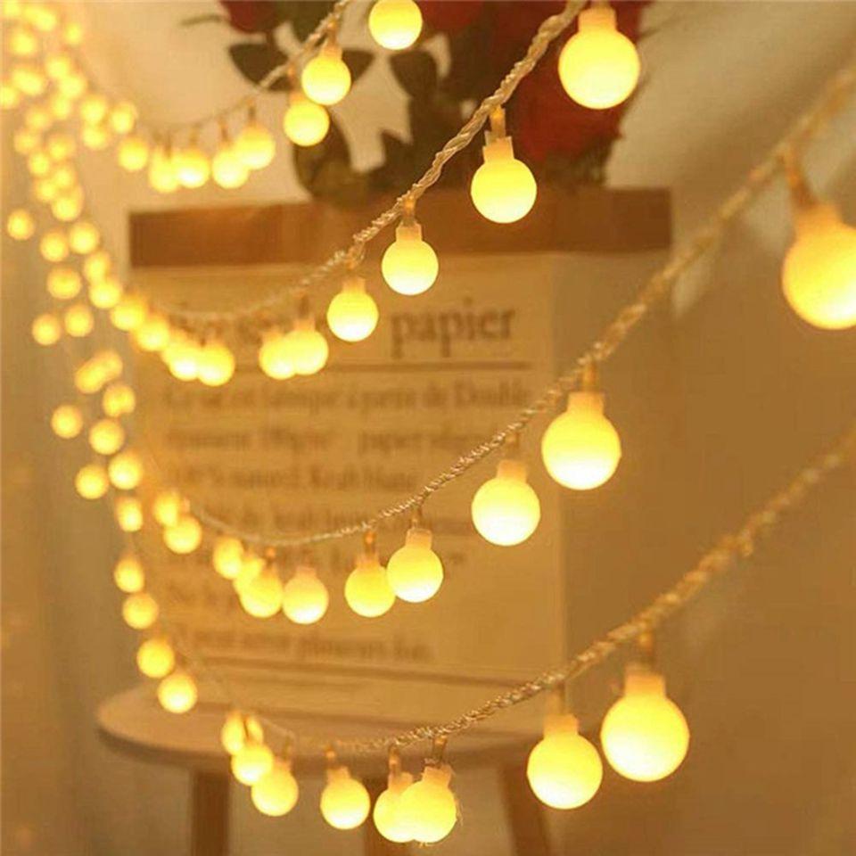 ضوء سلسلة LED غير لامع للكريسماس ، مقاوم للماء ، إضاءة زخرفية خارجية ، 220 فولت تيار متردد ، 10 م 20 م 30 م 50 م