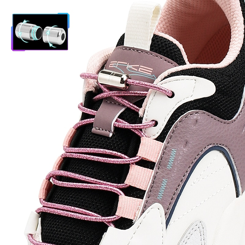 Round Elastic Laces without ties Colorful Sneakers Shoelaces No Tie Shoe laces Glitter Kids Adult Quick Shoe lace Rubber Bands