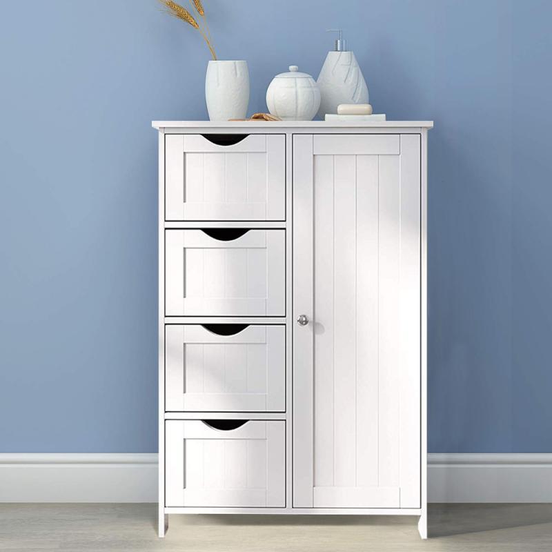 Armário do banheiro banheiro móveis de banheiro armário de madeira prateleira do armário de armazenamento de cosméticos armário do quarto