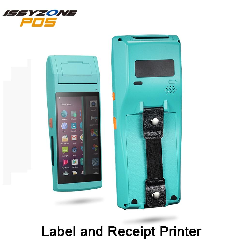 Android PDA Handhled impresora de pegatinas de recibos Terminal POS 58mm impresora de etiquetas térmicas Bluetooth NFC 3G FRFE SDK colector de datos