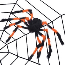 1set Black White Spider Web Bar Haunted House Home Decor Cobweb Terror Party Cosplay Holiday Party S