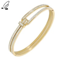 stainless steel geometric minimalist gold plated designer bracelets gift for women charm 2021 trend fashion accessories jewelry