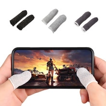 1 Pair Mobile Finger Stall Sensitive Game Controller Sweatproof Breathable Finger Cots Accessories f