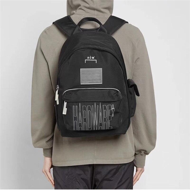 Reflexivo A-COLD-WALL * mochila masculino feminino botão de metal de alta qualidade funcional uma parede fria acw saco