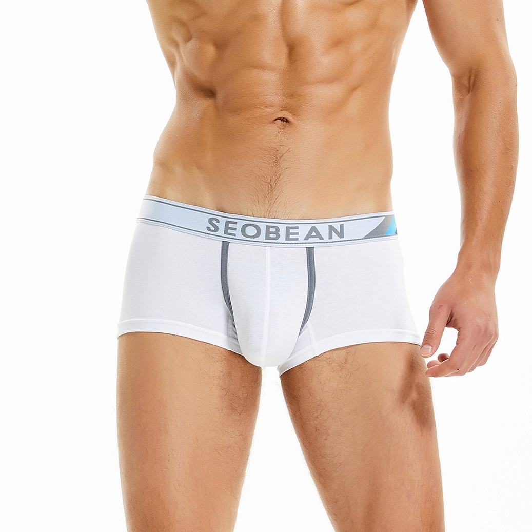 NEW 2021 SEOBEAN summer men's sexy Cotton Tracksuit U bag  boxer underwear