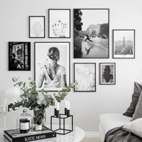 abstract dreamer wall art print canvas fashion posters black white photograph canvas painting pictures modern room decoration