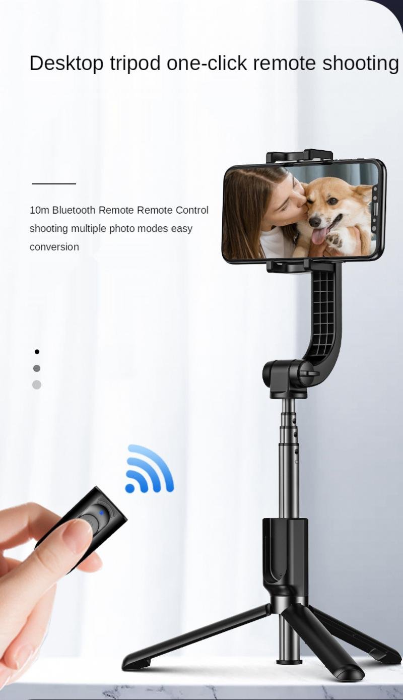 Smart Super Retractable Single Axis Stabilizer Mobile Phone Selfie Stick Video Live Anti-Shake Tripod Stand enlarge