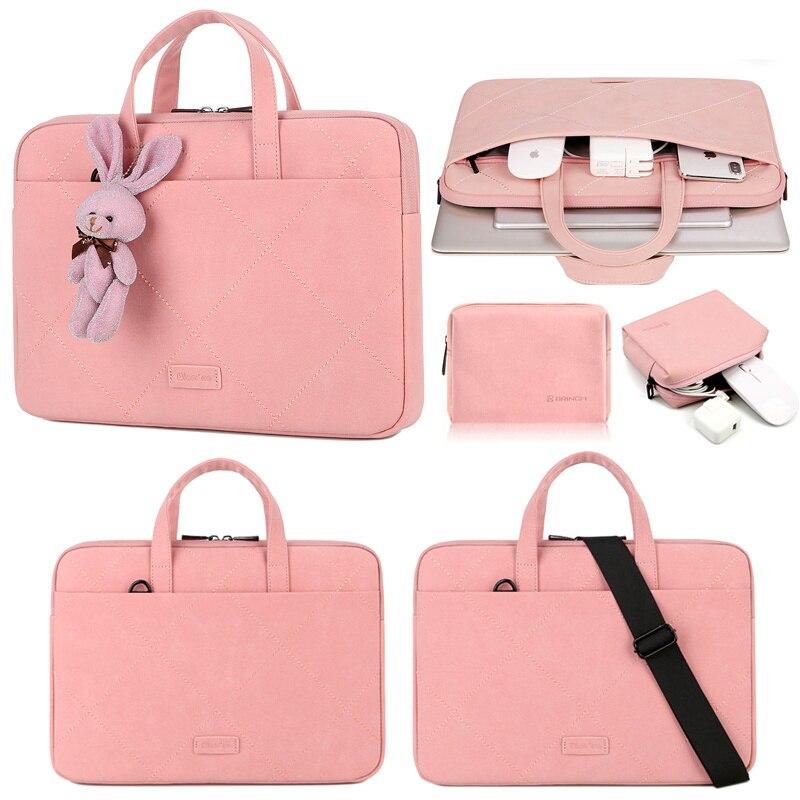 Waterproof Shoulder Bag For Women 2020 Matte PU Handbag 13.3 15 15.6 16 14 11 12 Laptop Bag Case For