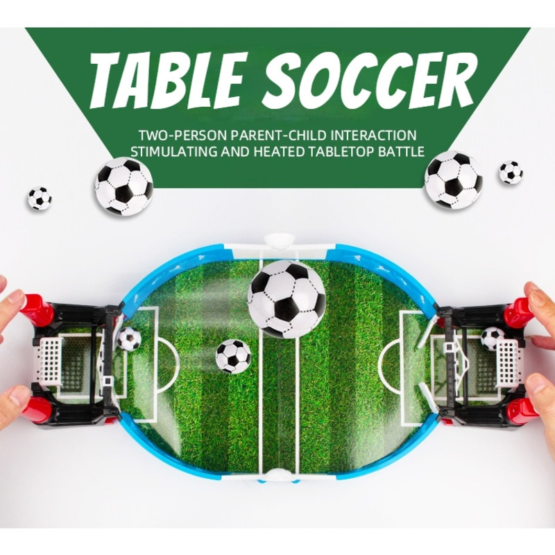 Table Soccer Mini Football Board Game Kit Toys For Kids Adult Sport Outdoor Portable Tabletop Games Play Educational Gifts