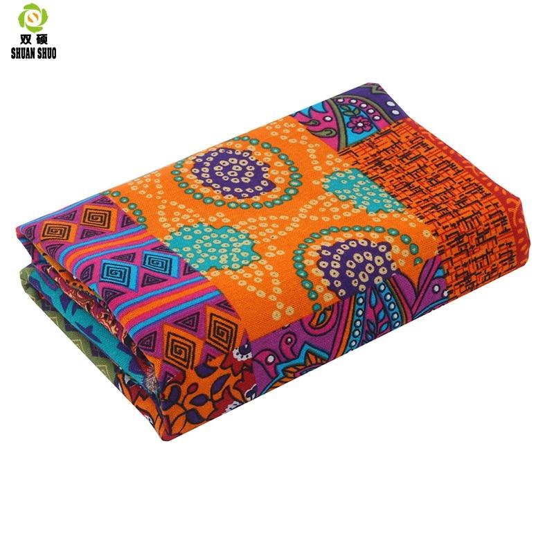 aliexpress.com - Shuanshuo  Cotton  linen printed fabric stitching printing irregular patchwork women's clothing dress diy  handmade  150*50cm