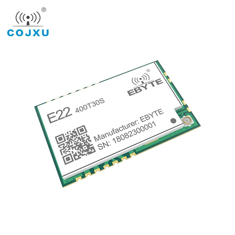SX1268 LoRa TCXO 433MHz 30dBm E22-400T30S SMD UART Wireless Transceiver  IPEX Stamp Hole 1W Long Range Transmitter and Receiver enlarge