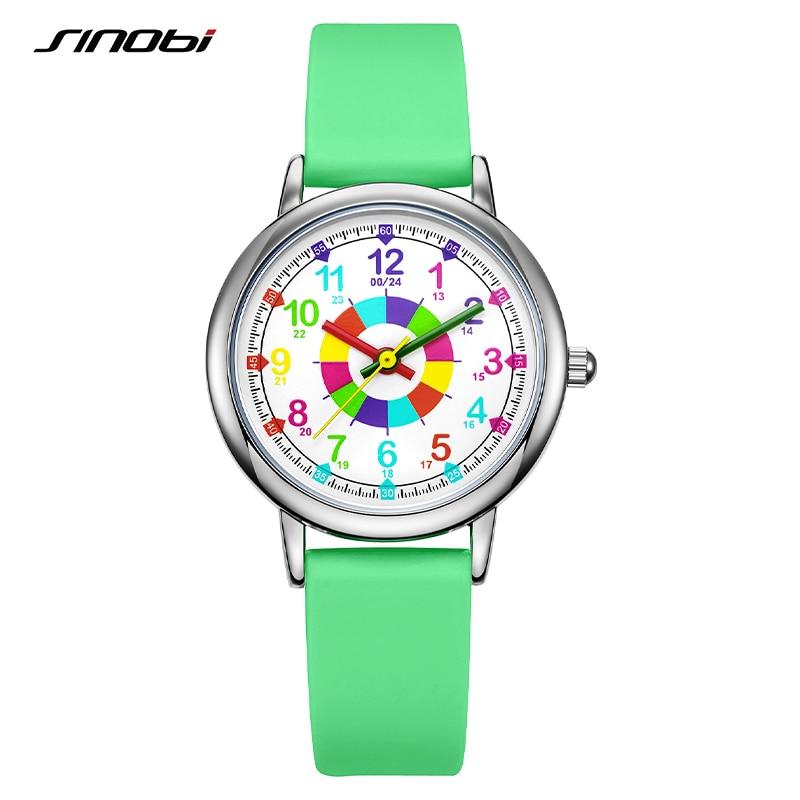 SINOBI Original Lady Design Women Quartz Wristwatches Fashion Young Girl Watches Creative Colorful Woman Clock Relogio Feminino