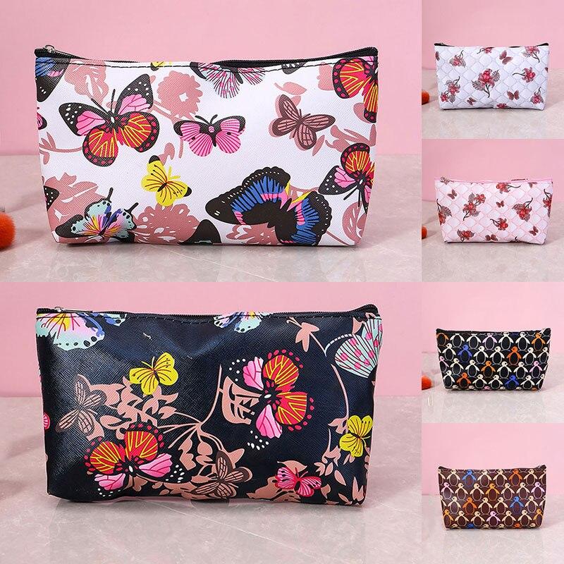 Дорожные сумочки-бабочки, клатч для Хранения Туалетных принадлежностей, косметички с принтом, сумки с цветами-бабочками для хранения косме...