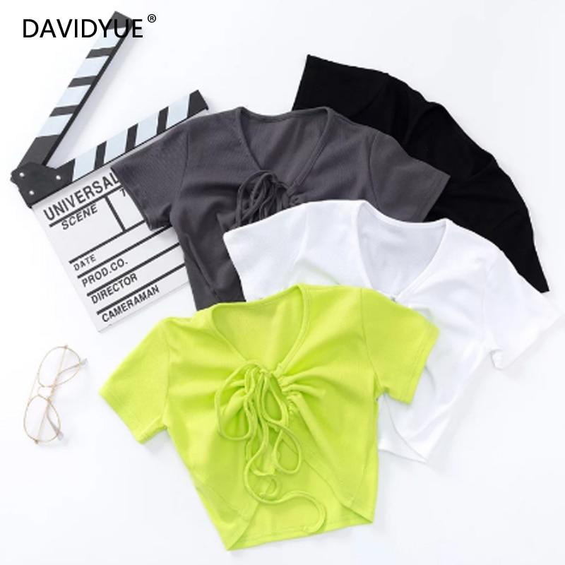 Camiseta de manga corta sexy blanca para mujer de top Vintage recortada, camiseta Coreana de manga corta, camiseta negra de malla para verano 2020