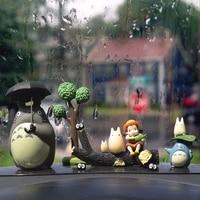 anime totoro shout figure set deskresin car ornaments miyazaki hayao model fairy garden moss miniatures accessories toys decor