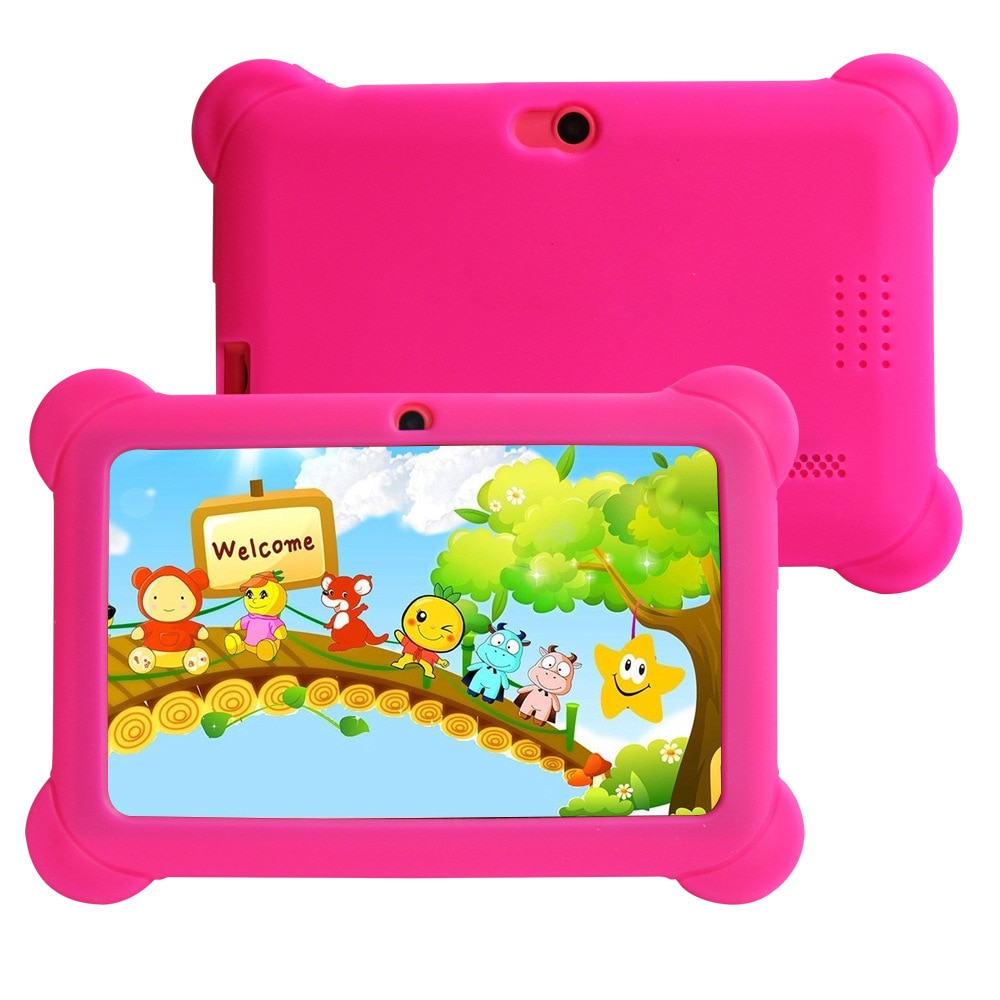 Genuine 7-inch children's learning tablet Android 8.0 system 16GB tablet with silicone case USB quad-core rechargeable