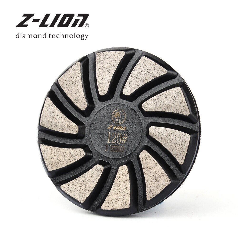 Z-LEAP 3 Inch 1PC Diamond Polishing Pad 75mm Concrete Granite Marble Floor Grinding Disc Metal Bond Turbo Segments Abrasive Tool