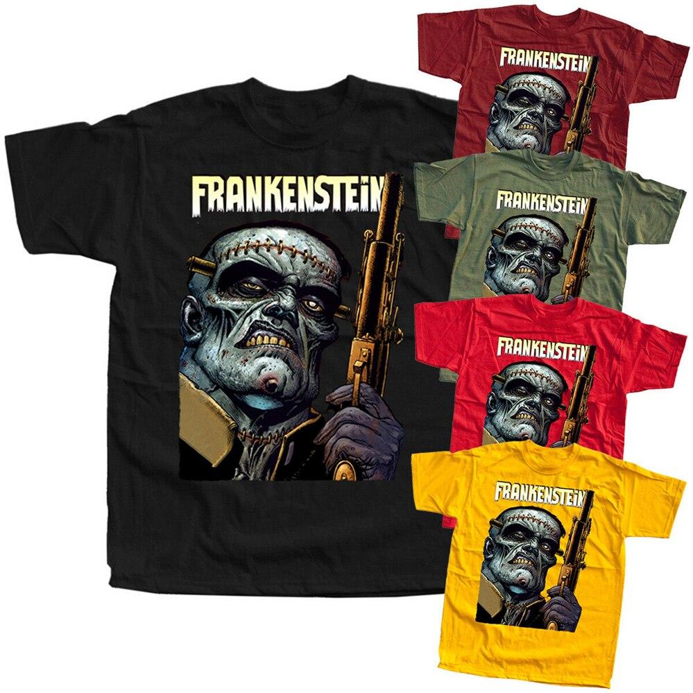 Frankenstein V27 cartel de película camiseta (rojo amarillo Oliva negro) todas las tallas S-3Xl nueva camiseta divertida Unisex