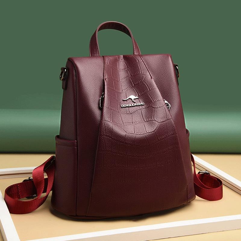 Роскошные женские рюкзаки, женские дорожные рюкзаки, Большой Вместительный рюкзак для подростков, школьный рюкзак в консервативном стиле, ...