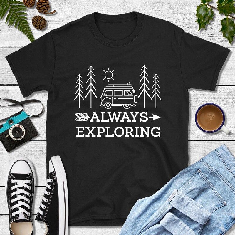 Camiseta de algodón 100% para mujer, ropa de acampada al aire libre,...